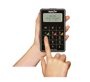 Hand with Reply Interact Plus Keypad